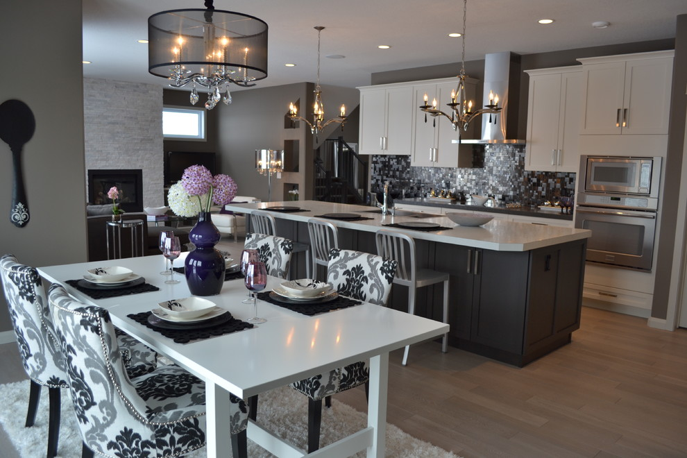Tj Maxx Platinum for Transitional Kitchen with White Dining Table