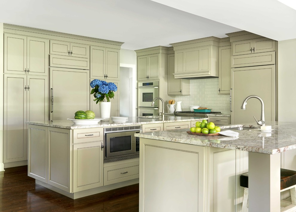 Typhoon Bordeaux for Traditional Kitchen with Taupe Painted Cabinet