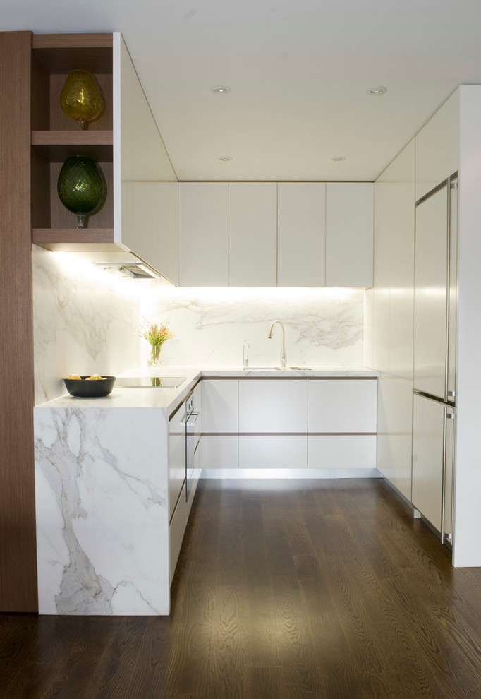 U Save Rockery for Modern Kitchen with Dark Floor