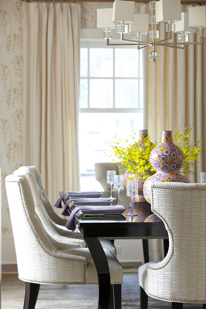 Vages for Beach Style Dining Room with Purple