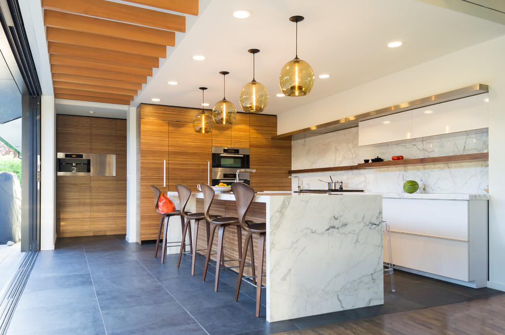 Verona Marble for Contemporary Kitchen with Large Tiles