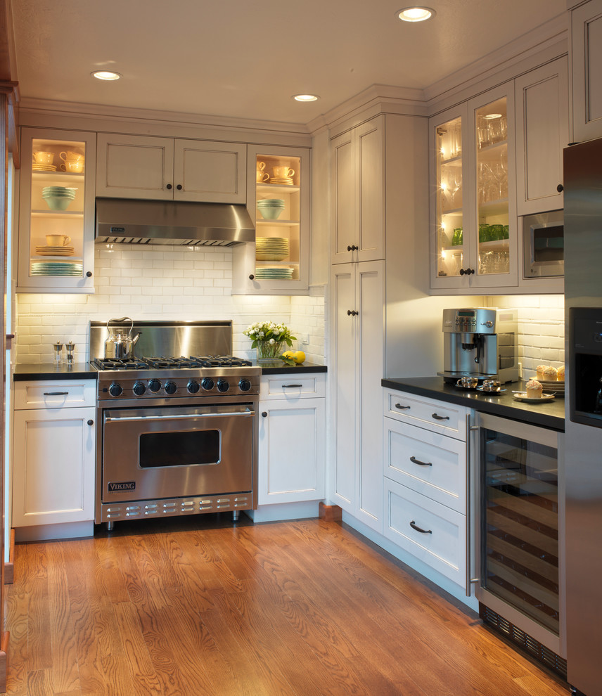 Viking Lumber for Traditional Kitchen with Medium Stained Floor