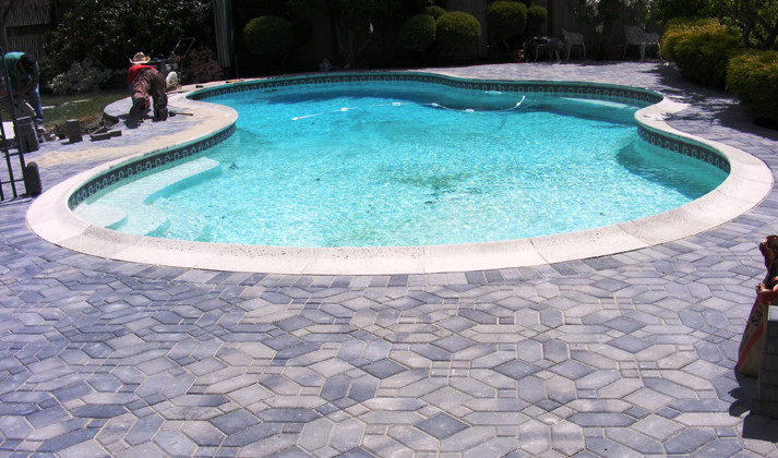 Viking Pools for Craftsman Pool with Pool Decks