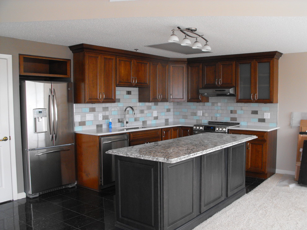 Warner Robins Supply for Contemporary Kitchen with Back Splash