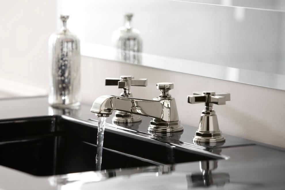 Weinstein Supply for Transitional Bathroom with Pinstripe