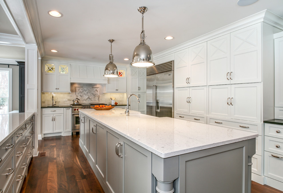 What is Silestone for Traditional Kitchen with Pendant Lights