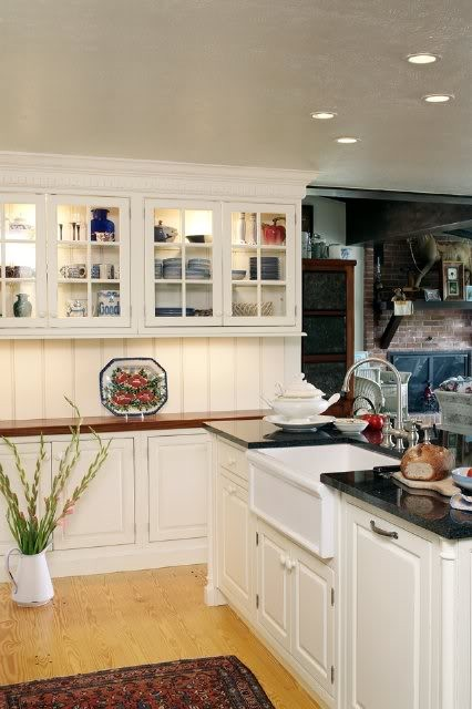 Whitehaus for Traditional Kitchen with Beaded