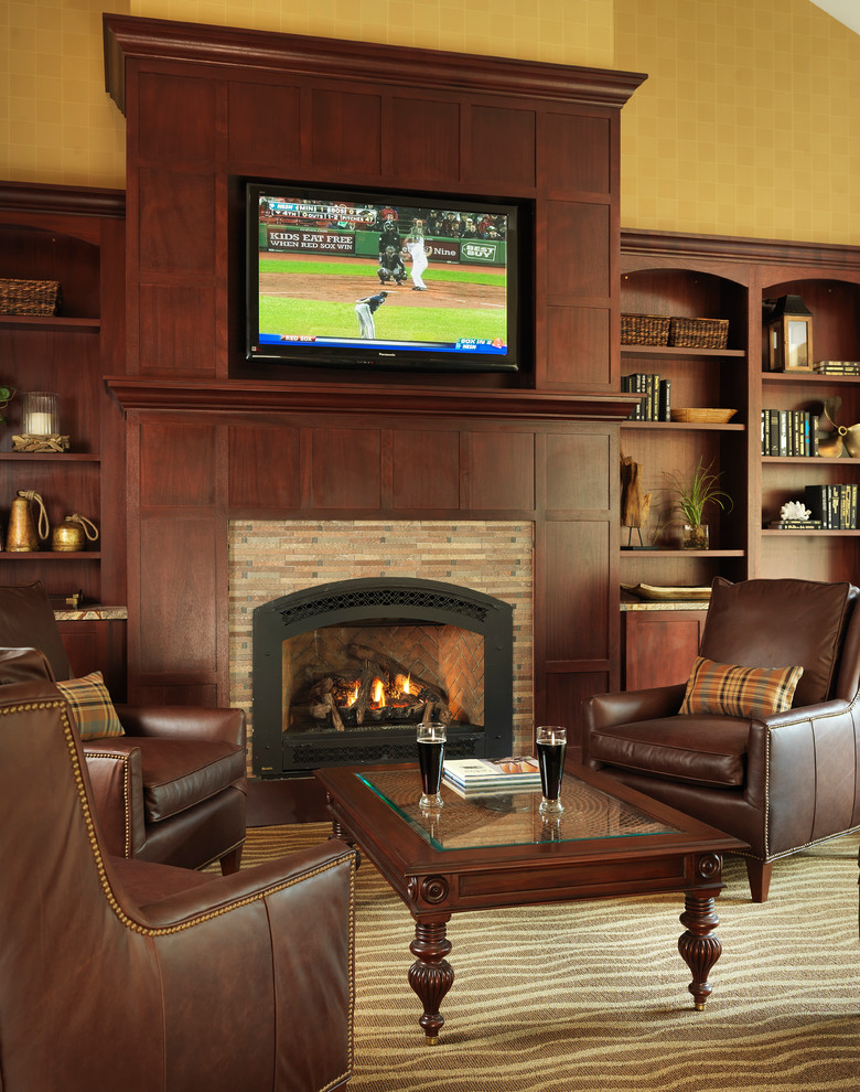 Windward Theater for Traditional Home Theater with Reclaimed Wood
