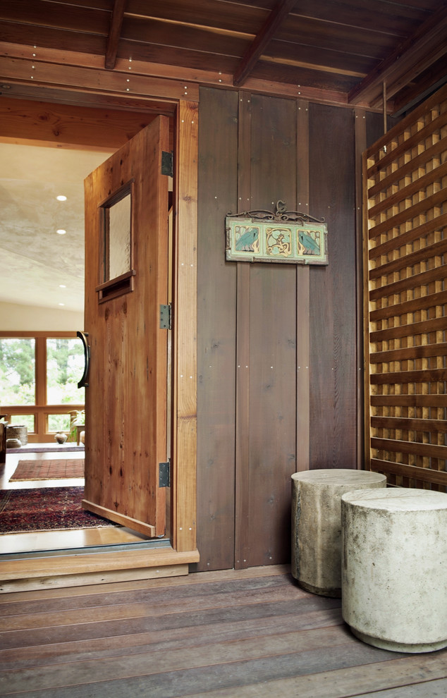 Woodbridge Theater for Rustic Entry with Rustic