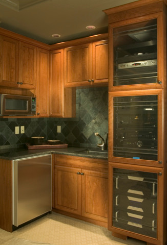 Woodinville Theater for Traditional Home Theater with Media Kitchen