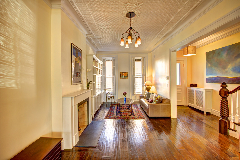 Woodwork Brooklyn for Traditional Living Room with Glossy Floors