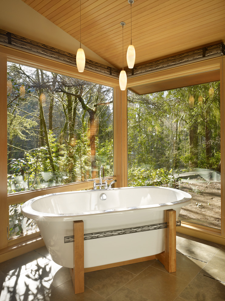 Wormald Homes for Midcentury Bathroom with Privacy