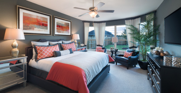 www.coasterfurniture.com for Contemporary Bedroom with Energy Efficient Homes