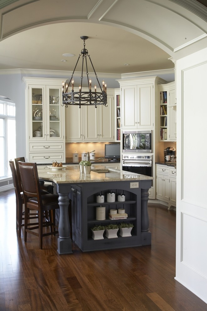 www.tourfactory.com for Traditional Kitchen with Nail Head Trim