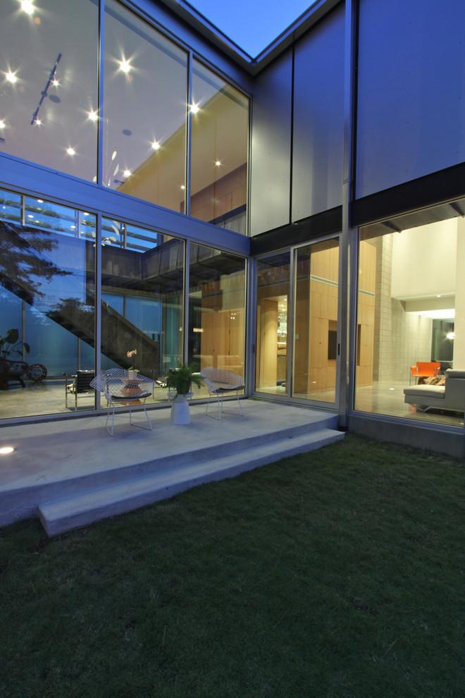 Ykk Windows for Contemporary Exterior with Sliding Glass Door
