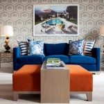 Aarons Uk Blog for Contemporary Living Room with Blue Cushions