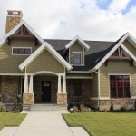 Acadian Style Homes for Craftsman Exterior with Light Brick
