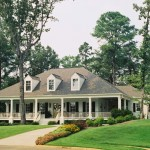 Acadian Style Homes for Traditional Exterior with Wood Column