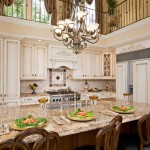 Acadian Style Homes for Traditional Kitchen with Brick Tile