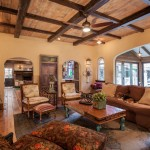 Acme Brick Colors for Rustic Living Room with Rustic Beams