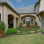 Acme Brick Colors for Traditional Landscape with Weathered Brick