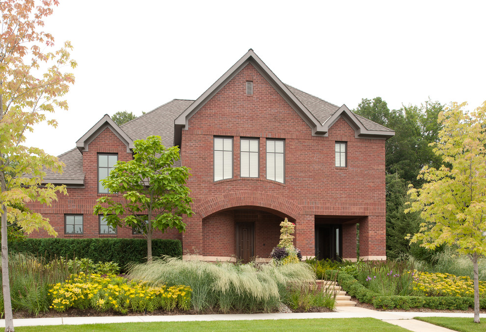 Acme Brick for Traditional Exterior with Tall Grass
