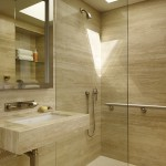 Ada Grab Bar Height for Modern Bathroom with Master Suite Elevator