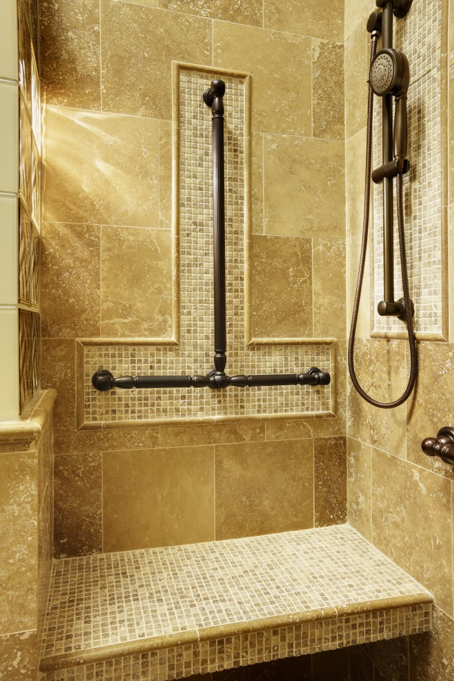 Ada Grab Bar Height for Traditional Bathroom with Support Bars