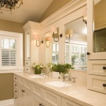 Ada Sink Height for Traditional Bathroom with Double Sinks
