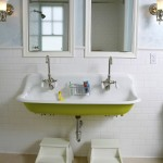 Ada Sink Height for Traditional Bathroom with Lime Green