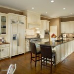 Aga Marvel for Traditional Kitchen with Wood Floors