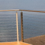 Ags Stainless for Modern Deck with Cable Railing