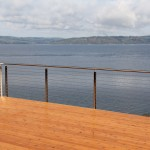 Ags Stainless for Modern Deck with Glass Railings