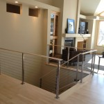 Ags Stainless for Modern Living Room with Cable Railing