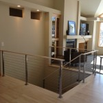 Ags Stainless for Modern Living Room with Stairs