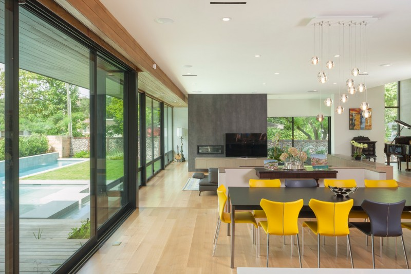 Aia Houston for Contemporary Dining Room with Pendant Lighting