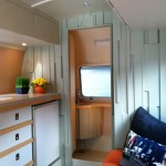 Airstream Renovation for Modern Kitchen with Polished Airstream