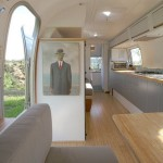 Airstream Renovation for Modern Living Room with Airstream