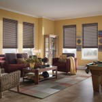 Airstream Renovation for Transitional Living Room with Cordless Shades