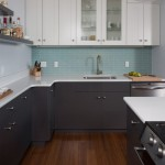 Akdo for Contemporary Kitchen with Blue Tile