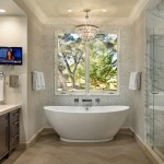 Akdo for Traditional Bathroom with Tv at Vanity