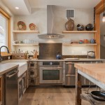 Albert Lee Appliance for Contemporary Kitchen with Rustic Wood