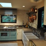 Albert Lee Appliance for Transitional Kitchen with Copper Pots