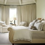 Alexa Hampton for Transitional Bedroom with Upholstered Sleigh Bed