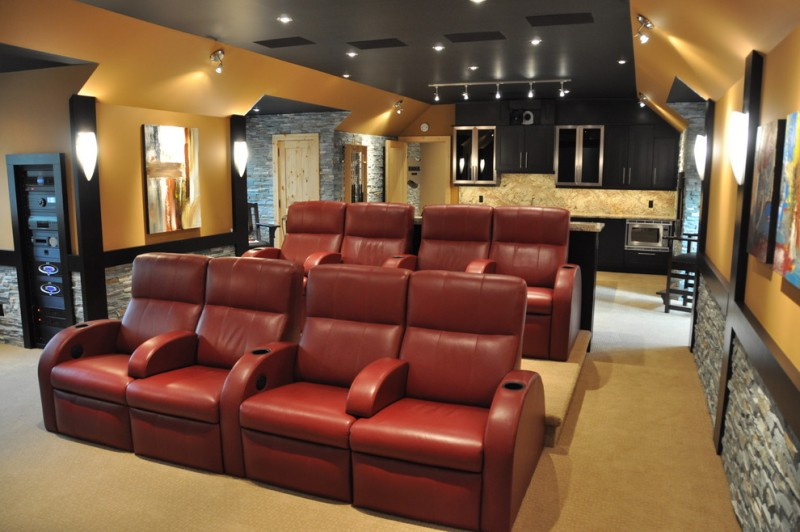 American Fork Theater for Contemporary Home Theater with Home Theater