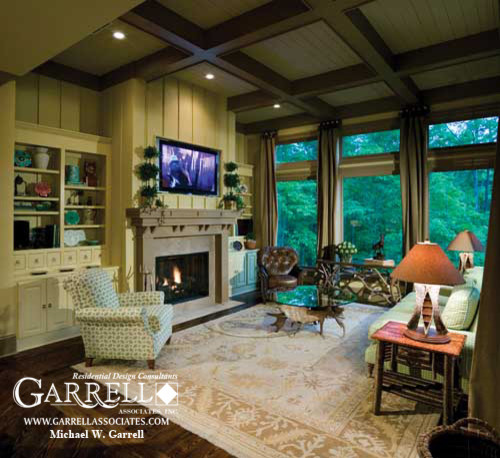 Amicalola for Craftsman Family Room with Craftsman House Plans
