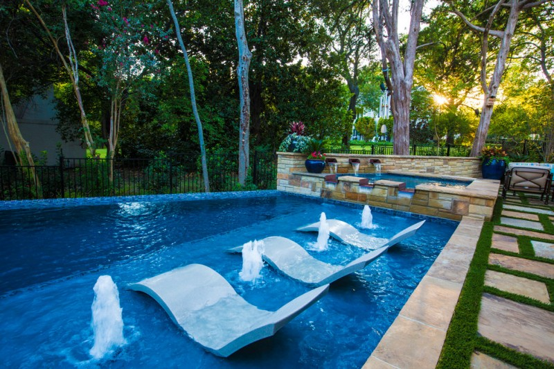 Aquaterra for Contemporary Pool with Firepits