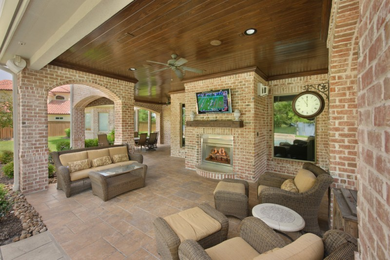 Arcadia Furniture for Traditional Patio with Wall Mounted Tv