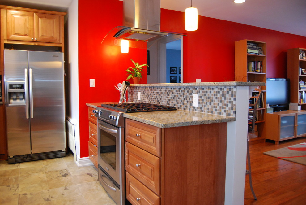 Archstone for Traditional Kitchen with Breakfast Bar