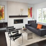 Ashley Furniture Indianapolis for Contemporary Living Room with Custom Fireplace